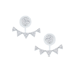 Diamond Jacket Earring Set