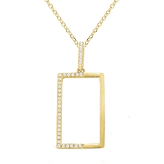 Diamond Rectangle Pendant
