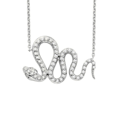 Diamond Snake Necklace