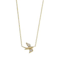 Diamond Soaring Nightingale Necklace