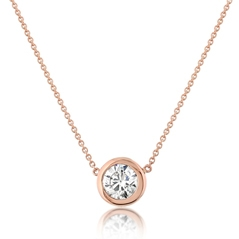 Diamond Solitare Necklace