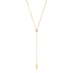 Diamond Spike Lariat Necklace