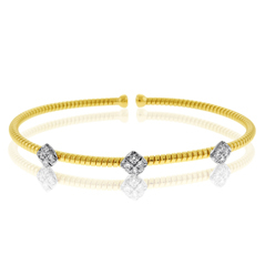 Diamond Square Cluster Flex Bracelet