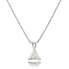 Diamond Trillion Solitaire Pendant
