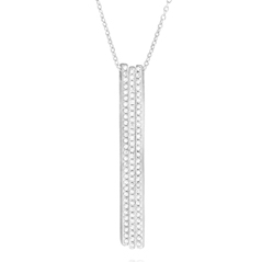 Diamond Triple Bar Necklace