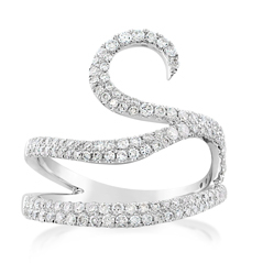 Diamond Wave Ring