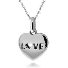 Double Heart 'Love' Necklace