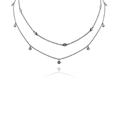 Double Row Diamond Necklace