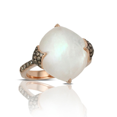 DOVES Mother-of-Pearl & Champagne Diamond Ring