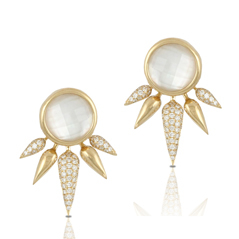 DOVES Mother-of-Pearl & Diamond Earring Set