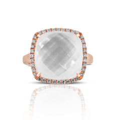 DOVES Mother-of-Pearl & Diamond Ring
