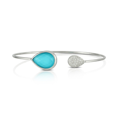DOVES Turquoise & Diamond Cuff