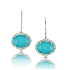 DOVES Turquoise & Diamond Earrings