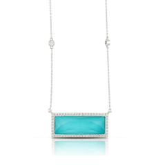 DOVES Turquoise & Diamond Necklace
