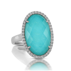 DOVES Turquoise & Diamond Ring