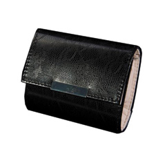 Ebony Faux Snakeskin Jewelry Wallet