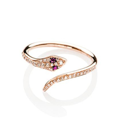EF COLLECTION Diamond & Ruby Ring