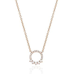 EF COLLECTION Diamond Circle Necklace