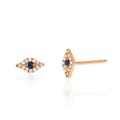 EF COLLECTION Evil Eye Stud Earrings