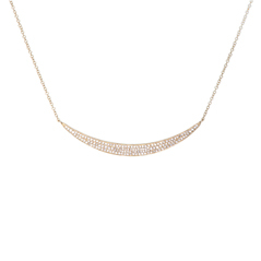 EF COLLECTION Jumbo Diamond Crescent Necklace