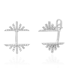 EF COLLECTION Sunrise Sunset Diamond Earrings with Jackets