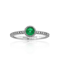 Emerald and Diamond Stack Ring