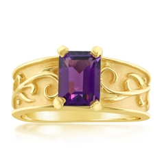 Estate Amethyst Scroll Ring