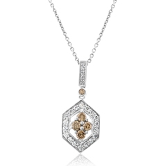 Estate Champagne & Diamond Pendant