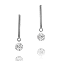Estate Diamond  Bar Earring