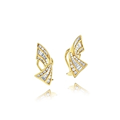 Estate Diamond Clip On Earrings