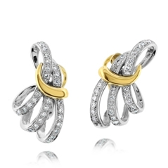 Estate Diamond Fan Earrings