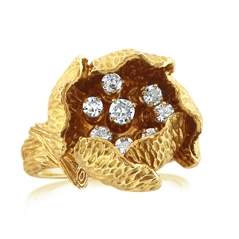 Estate Diamond Flower Ring
