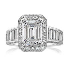 Estate Diamond Halo Engagement Ring