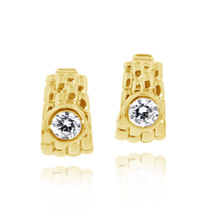 Estate Diamond Huggie Earrings