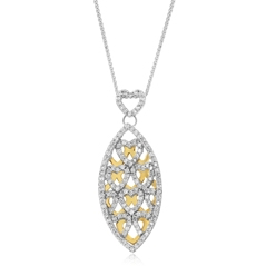 Estate Diamond Marquise Pendant