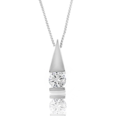 Estate Diamond Pendant Necklace