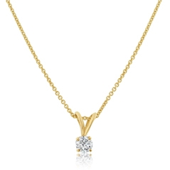Estate Diamond Solitaire Pendant