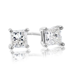 Estate Diamond Stud Earrings