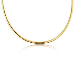 Estate Domed Omega Necklace