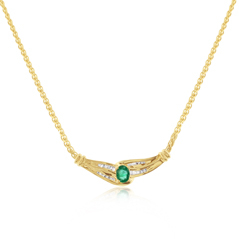 Estate Emerald & Diamond Necklace