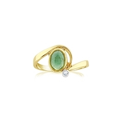 Estate Emerald & Diamond Ring