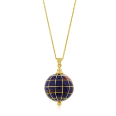 Estate Enamel World Pendant