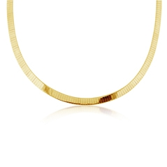Estate Flat Omega Necklace
