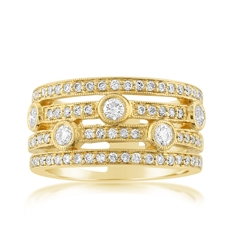 Estate Four Row Diamond Ring