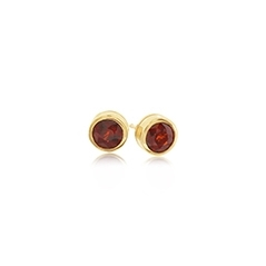 ESTATE Garnet Stud Earrings