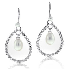 Estate Honora Pearl Teardrop Earrings