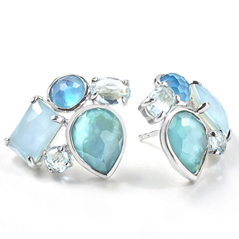 Estate Ippolita Candy Cluster Earrings in Blue Star