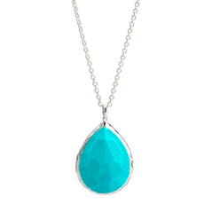 Estate Ippolita Rock Candy Large Teardrop Pendant in Turquoise