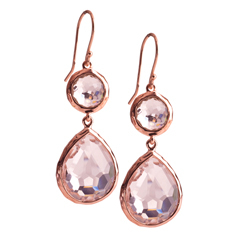 Estate Ippolita Rose Rock Candy Sowman Earrings in Clear Quartz