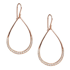 Estate Ippolita Teardrop Diamond Earrings